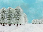 Snowscape Paintings - After The Storm by Hillary Binder-Klein