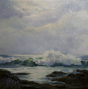 Crashing Surf Paintings - After the Storm by Judith McKenna