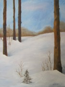 Drifting Snow Painting Prints - After The Storm Print by Nancy Craig