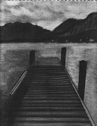 Dock Drawings Originals - After the Storm by Tina Boyer