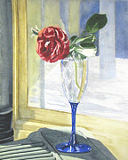 Rose Wine Paintings - After the Wine is Gone by Jean Lejcher
