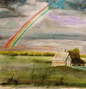 Barn Storm Drawings Prints - After Warm Rain Print by John  Williams