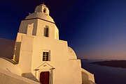 Religious Building Framed Prints - Afterglow Framed Print by Aiolos Greek Collections