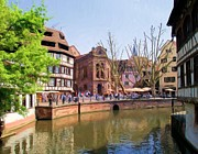 Alsace Framed Prints - Afternoon along the River Framed Print by Jenny Hudson