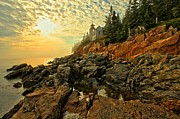 Bass Harbor Lighthouse Posters - Afternoon At Bass Harbor Poster by Adam Jewell
