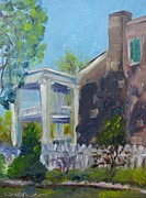 Franklin Tennessee Painting Posters - Afternoon at Carnton Plantation Poster by Susan Jones