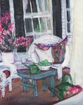 Afternoon At Emmanline's Front Porch Print by Helena Bebirian