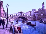 Wine Tour Posters - Afternoon At the Rialto Bridge Venice Italy II Poster by Unknown - L Brown