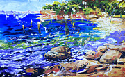 Sharks Paintings - Afternoon Hues Nielsen Park Sydney by Shirley  Peters