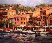 R W Goetting Framed Prints - Afternoon in Cassis Framed Print by R W Goetting
