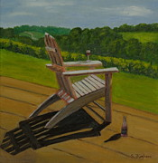 Grapevines Paintings - Afternoon in the Vineyards by Susan Fuglem