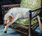 Yellow Labrador Retriever Prints - Afternoon Nap Print by Molly Poole