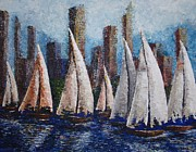 Most Viewed Paintings - Afternoon race 2012 by Tatjana Popovska