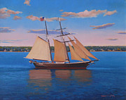Afternoon Sail Print by Dianne Panarelli Miller