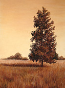Lone Tree Pastels Prints - Afternoon Shade Print by Nicole Wright