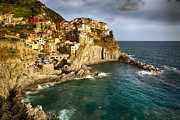 Northern Italy Photos - Afternoon Sun in Manarola Harbor by George Oze