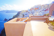 Veranda Framed Prints - Afternoon sunlight Framed Print by Aiolos Greece Collection