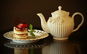 Afternoon Tea And Tiramisu Print by Inspired Nature Photography By Shelley Myke