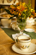 Flower Photo Prints - Afternoon Tea Time Print by Andrew Soundarajan