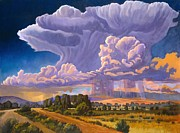 Pouring Painting Prints - Afternoon Thunder Print by Art West