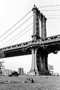 Afternoon Under The Manhattan Bridge - Brooklyn Bridge Park Print by Gary Heller