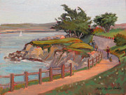 Sea Shore Prints Painting Originals - Afternoon Walk by Rhett Regina Owings