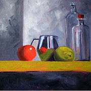 """indoor"" Still Life  Painting Posters - Against Giants Poster by Nancy Merkle"