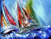 Sails Prints - Against the wind  Print by Mary Cahalan Lee