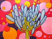 Original Paintings - Agapanthus Wonder by Adel Nemeth