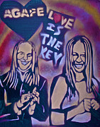 Tony B. Conscious Paintings - Agape... Love Is The Key by Tony B Conscious