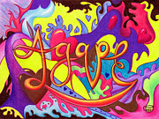 Jews Drawings Posters - Agape Poster by Nancy Cupp