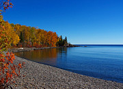 Agate Beach Art - Agate Beach on Lake Superior by Steve Anderson