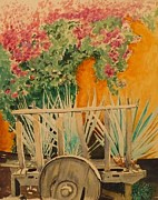 Guadalajara Mexico Paintings - Agave Cart by Patrick DuMouchel