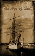 Ship In Sepia Digital Art Posters - Age of Sail Poster Poster by John Malone Halifax photographer
