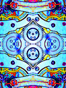 Symmetrical Digital Art Prints - Age Of The Machine 20130605 vertical Print by Wingsdomain Art and Photography
