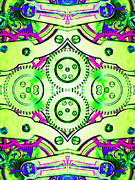 Symmetrical Digital Art Prints - Age Of The Machine 20130605m108 vertical Print by Wingsdomain Art and Photography
