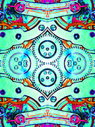 Symmetrical Digital Art Prints - Age Of The Machine 20130605m36 vertical Print by Wingsdomain Art and Photography