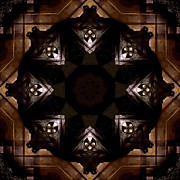 Indiana Photography Prints - Aged Wood Kaleidoscope Print by Jim Finch