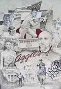 Texas Drawings - Aggies by Richard Johns