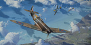 Spitfire Painting Prints - Agility Speed and Beauty Print by Steven Heyen