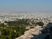 Athens Framed Prints - Agora and Athens beyond Framed Print by David Bearden