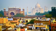 India Metal Prints - Agra Rooftop Metal Print by Derek Selander