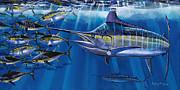 Black Marlin Painting Framed Prints - Agressor Off00140 Framed Print by Carey Chen