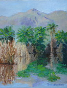 Dried Reeds Posters - Agua Caliente Poster by Susan Woodward