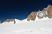 Midi Framed Prints - Aguille du Midi and Mer de Glace Framed Print by Antonio Scarpi