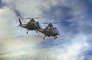 Helicopters Framed Prints - Agusta choppers Framed Print by Roy McPeak