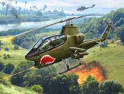 Snake Posters - AH-1G Huey Cobra   The Cobras Venom Poster by Stu Shepherd