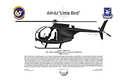 Helicopter Digital Art Prints - AH-6J Little Bird Print by Arthur Eggers