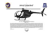 Ah-6j Little Bird Print by Arthur Eggers