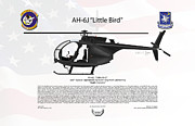 Night Stalkers Posters - AH-6J Little Bird Night Stalkers Poster by Arthur Eggers